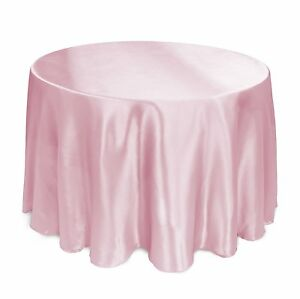 """15 PACKS 120"""" inch Round SATIN Tablecloth WEDDING 25 COLOR 5' Ft table USA SALE"""
