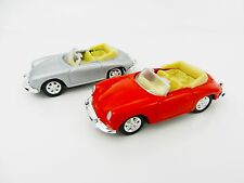 1:64 WELLY = Porsche 356B Sports Car *SET OF 2* RED & SILVER *DIECAST* NEW!