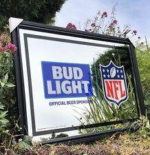 Bud Light Nfl Football Beer Bar Mirror Man Cave Pub New