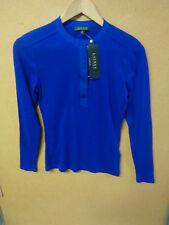 // Ralph Lauren Sail Blue Long Sleeve Half Zip Cotton Top Size S Small
