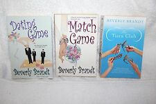 Lot of Beverly Brandt Contemporary Romance Novels Large Books Dating Match Game