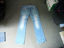 """Diesel Zink Jeans Waist 29"""" Leg 34"""" Faded Dark Blue Ladies Jeans"""