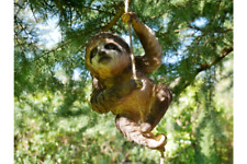 Climbing Sloth ornament, Sloth garden ornament