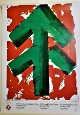 HOWARD HODGKIN Original SARAJEVO XIV WINTER OLYMPIC GAMES 1984 Lithograph Poster