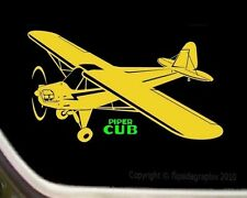 Detailed Classic Piper J3 Cub Airplane Pilot Decal-Sticker sk-a-17