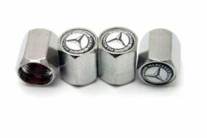 4 x Mercedes Benz Chrome Car Wheel Tyre Valve Dust Caps Covers A B C E AMG CLASS