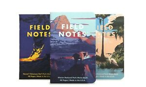 Field Notes Quarterly Edition: National Parks F 3-Pack Memo Book