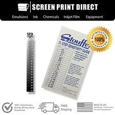 Exposure Calculator For Screen Printing - 21 Step Wedge Stouffer Calculator