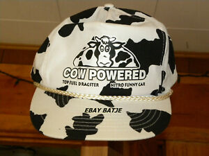 Vintage Drag Racing HAT BRENT&VICKI FANNING NITRO COW  funny car FUNNY TRUCK TF