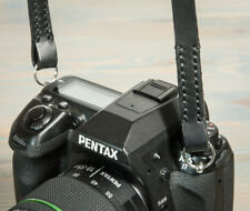 38in Hand made Black leather camera strap