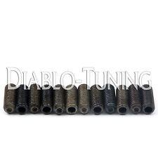 8mm Black Alloy BASS Bridge Saddle Height Screws (12) For Ibanez ATK & Standard