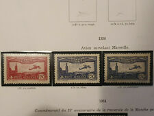 France Lot 3 Timbres PA Poste aérienne neuf** N°5 N°6 et N° 6a Luxe AGO 1930