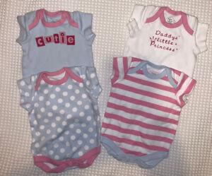 Girls Newborn Bodysuits X4 - Mamas & Papas