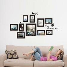 Family Photo Frame Wall Sticker Decal Mural Removable PVC Home Bedroom Decor NEW