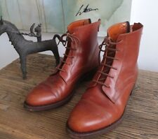 Women's Chelsea style lace up brown leather boots. EU 37. US 6.5. UK 4.