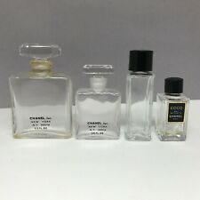 CHANEL No 5 Mini Perfume Empty Bottles Lot of 4 Coco EDT French Parfum