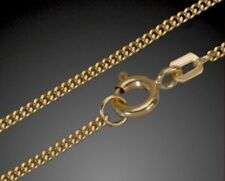 Goldkette 1mm breit Panzerkette 333 Gold Kette Halskette 42cm Colier