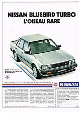 Publicité Advertising 1984 Nissan Bluebird Turbo