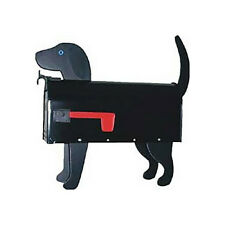 Black Lab Mailbox Post Mount - Handmade by More Than A Mailbox