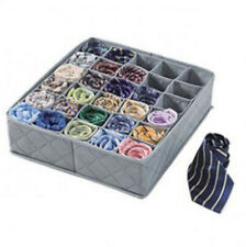 30 Cells Underwear Ties Sock Storage Box Bamboo Charcoal Drawer Closet Organizer