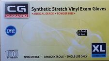 Synthetic Stretch Vinyl Medical/Exam Gloves, XLarge 1,000/CASE  Powder Free