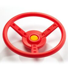 Swing Slide Climb PLAY CAR STEERING WHEEL+Fixings,Spins When Mounted,RED Plastic
