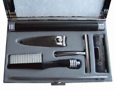 Mens Personal Travel Set Grooming Kit Razor Tootbrush Clippers in Metal Case