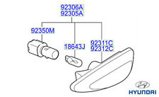 Genuine Hyundai IX35 Side Repeater Lamp, LH - 923112S000