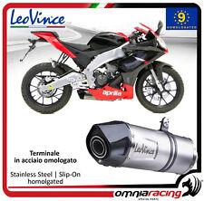Auspuff Leovince LV One stahl für Aprilia RS4 125  2011>2016
