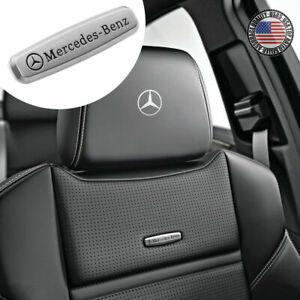 For Mercedes-Benz Sport Car Suv Front Seat Back AMG Performance Emblem 3D Badge
