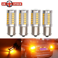 1156 Ba15s Amber Led Cob 382 P21w Error Free Turn Indicator Light Bulbs Canbus V