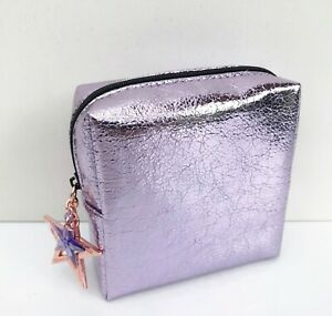 MAC Purple Makeup Cosmetic Bag Case, Travel Pouch Purse, Brand New!