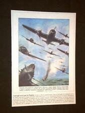 Anno 1940 WW2 Convoglio aereo Italiano vs la Tunisia Copertine Domenica Corriere