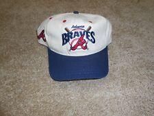 Vtg Atlanta Braves Hat #1 Apparel New Era Adjustable, Snapback, Made in USA