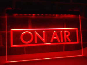 On Air LED Sign RED Radio Podcast Recording Studio USB Power