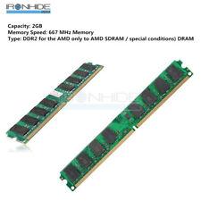 2GB RAM Memory DDR2 PC2-5300 / U667MHZ DIMM Memory 240-pin PC Memory 1.8 V