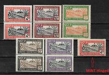 French Niger 1927,Postage Due Pairs,Sc J10/J12-J13/J15/J16,VF MNH** (FR-1)