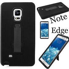 Samsung Galaxy Note Edge Rugged Defender Hybrid Hard Case Cover Kickstand  EL BB