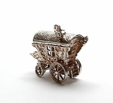 Vintage 925 Silver XL GYPSY WAGON ROOF OPENS TO FORTUNE TELLER Charm 7g