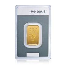 10 Gramm Goldbarren Kinebar Heraeus Gold 999,9 Feingold Barren Kinebarren