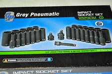 "3/8"" Drive Deep impact Socket 29 Ps Sae and Metriic U-joint Adapter Grey 1229DM"