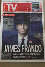 TV 8-14.04.2016 James Franco on front cover Polish Magazine