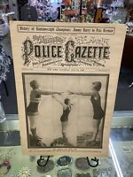 Vintage THE NATIONAL POLICE GAZETTE Magazine July 1920 All Ready To Dive Cover