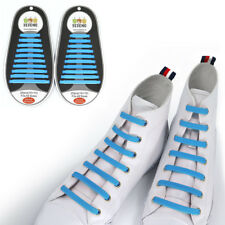 TOTOMO Skyblue No-Tie Elastic Shoelaces Silicone Tieless Shoe Laces for Asics