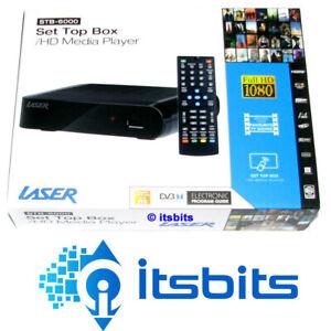 LASER STB-6000 HD RECORDER AND SET TOP BOX HDMI & COMPOSITE + REMOTE NEW MODEL