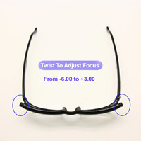 Adjustable Reading Glasses -6D to +3D Diopters Myopia Variable Strength NEW