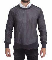 NWT $660 DOLCE & GABBANA Purple Runway Netz Pullover Netted Sweater s. IT46 / S