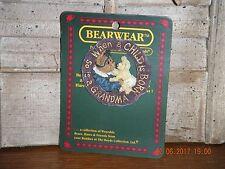 Boyds Bears 2002 ~Grammy W/Babykins Love Never Spoils~Bearwear Pin Style# 26062