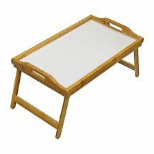 Wooden Folding Bamboo Food Breakfast Dinner Lunch Bed Lap Serving Tray Table