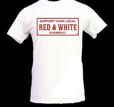 """Hawaii 81 Support T-shirt """"License Plate"""" White (M)"""